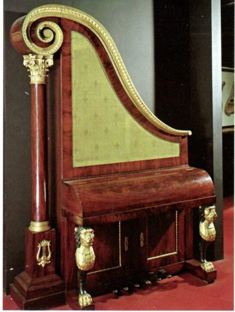 Piano Key Notes of a Harp Piano
