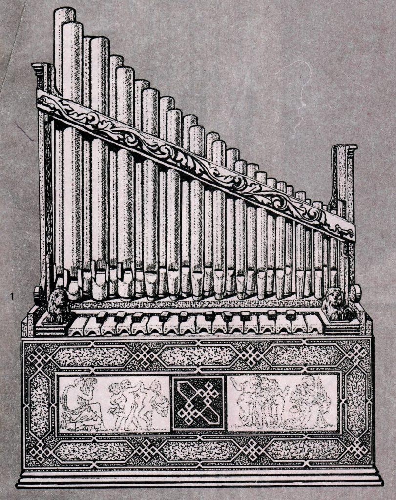 Piano Key Notes on a Portative Organ
