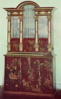 Piano Key Notes on a Positive Organ