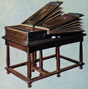 Piano Key Notes on a Regal Organ