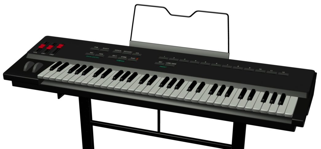 61 note piano keyboard